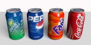 Pepsi, Fanta, Cola, Sprite